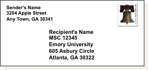 Sending Mail & Packages to Emory College Students